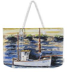 Little Fishing Boat Weekender Tote Bag