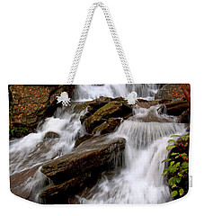 Weekender Tote Bag featuring the photograph Little Four Mile Run Falls by Suzanne Stout