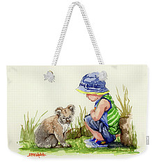 Little Friends Watercolor Weekender Tote Bag by Margaret Stockdale