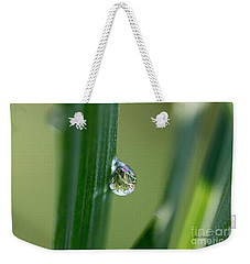 Weekender Tote Bag featuring the photograph Little Garden In The Droplet by Yumi Johnson