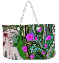 Little Girl In The Garden Weekender Tote Bag
