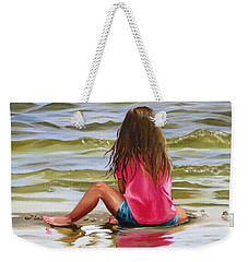 Little Girl In The Sand Weekender Tote Bag