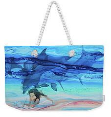 Little Girl Painter Weekender Tote Bag