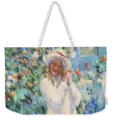 Little Girl With Roses / Detail Weekender Tote Bag