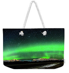 Little House Under The Aurora Weekender Tote Bag