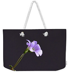 Little Lavender Flowers Weekender Tote Bag by Kathy Eickenberg