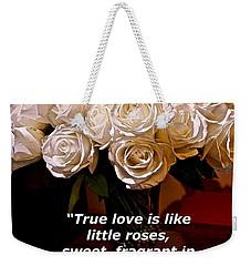 Little Love Roses Weekender Tote Bag