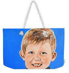 Weekender Tote Bag featuring the painting Little Mister G by Betty-Anne McDonald