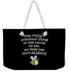 Little One You'll Always Bee Print Weekender Tote Bag