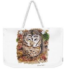 Little Owl Weekender Tote Bag