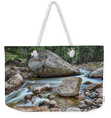 Weekender Tote Bag featuring the photograph Little Pine Tree Stream View by James BO Insogna