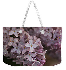 Weekender Tote Bag featuring the photograph Little Pink Stars by Christin Brodie