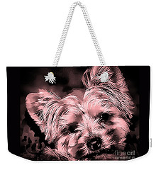 Weekender Tote Bag featuring the photograph Little Powder Puff by Kathy Tarochione