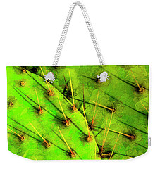 Weekender Tote Bag featuring the photograph Prickly Pear by Paul Wear