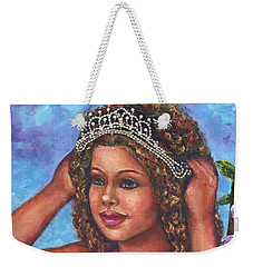 Weekender Tote Bag featuring the painting Little Princess by Alga Washington
