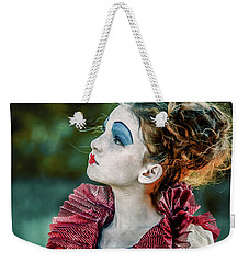 Weekender Tote Bag featuring the photograph Little Princess Of Hearts Alice In Wonderland by Dimitar Hristov