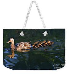 Little Quacker Formation Weekender Tote Bag by Debby Pueschel