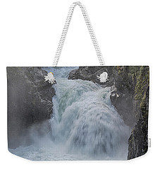 Weekender Tote Bag featuring the photograph Little Qualicum Upper Falls by Randy Hall