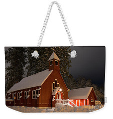 Little Red Church Weekender Tote Bag