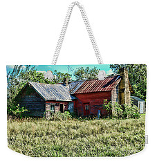 Weekender Tote Bag featuring the photograph Little Red Farmhouse by Paul Ward
