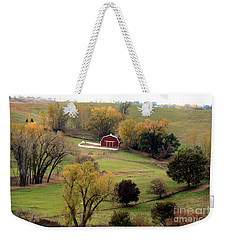 Weekender Tote Bag featuring the photograph Little Red In Valley  by Yumi Johnson