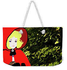 Little Red Riding Hood In The Forest Weekender Tote Bag by Marian Cates
