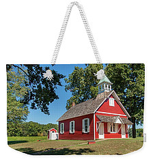 Weekender Tote Bag featuring the photograph Little Red School House by Charles Kraus