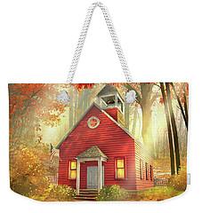Little Red Schoolhouse Weekender Tote Bag