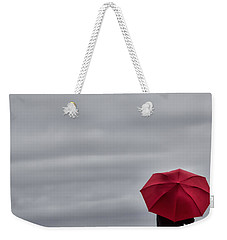 Little Red Umbrella In A Big Universe Weekender Tote Bag by Don Schwartz