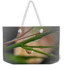 Weekender Tote Bag featuring the photograph Little Red by Yumi Johnson