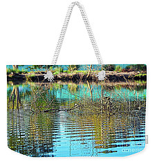 Weekender Tote Bag featuring the photograph Little Ripples By Kaye Menner by Kaye Menner