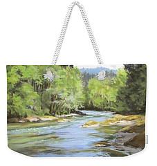 Little River Morning Weekender Tote Bag