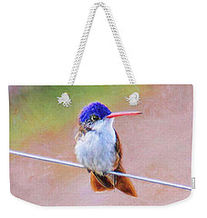 Weekender Tote Bag featuring the photograph Little Rufus by John Kolenberg