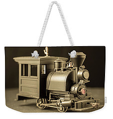 Weekender Tote Bag featuring the photograph Little Steam Locomotive by Edward Fielding