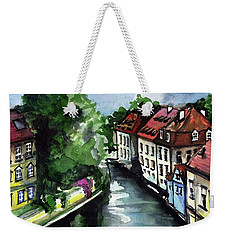 Little Venice In Prague Certovka Canal Weekender Tote Bag