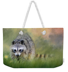 Little Wash Bear Raccoon Art Weekender Tote Bag by Jai Johnson