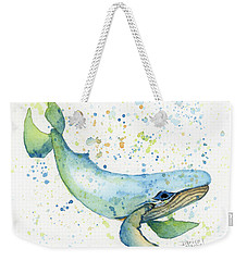 Weekender Tote Bag featuring the painting Little Whale by Darice Machel McGuire