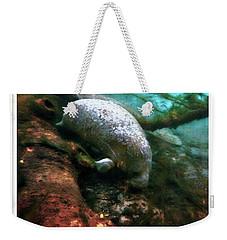 Little White Manatee Weekender Tote Bag