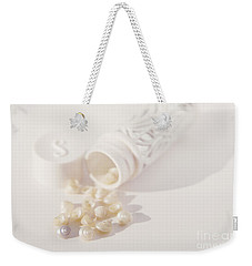 Weekender Tote Bag featuring the photograph Little White Seashells by Cindy Garber Iverson