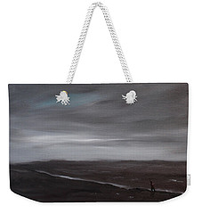 Little Woman In Large Landscape Weekender Tote Bag