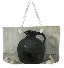 Litttle Brown Jug, Mushrooms And Garlic Weekender Tote Bag