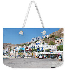 Livadia Harbour On Tilos Weekender Tote Bag