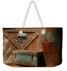 Weekender Tote Bag featuring the photograph Live Bait by Lori Deiter