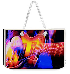 Weekender Tote Bag featuring the photograph Live Music by Chris Berry
