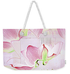 Weekender Tote Bag featuring the digital art Live N Love - Absf17 by Variance Collections