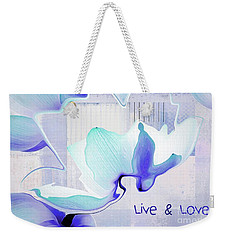 Weekender Tote Bag featuring the photograph Live N Love - Absf43 by Variance Collections