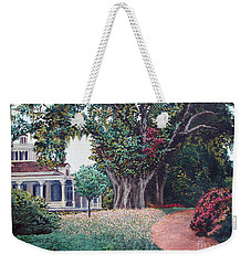 Weekender Tote Bag featuring the painting Live Oak Gardens Jefferson Island La by Todd Blanchard