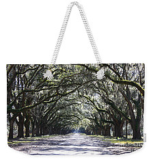 Live Oak Lane In Savannah Weekender Tote Bag