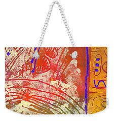 Live Your Life Weekender Tote Bag by Angela L Walker