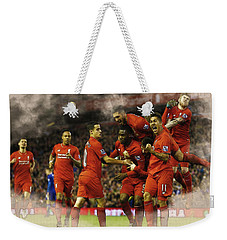 Liverpool V Leicester City Weekender Tote Bag by Don Kuing
